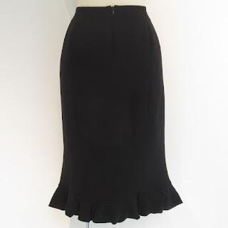 Giorgio Armani Black Silk Skirt
