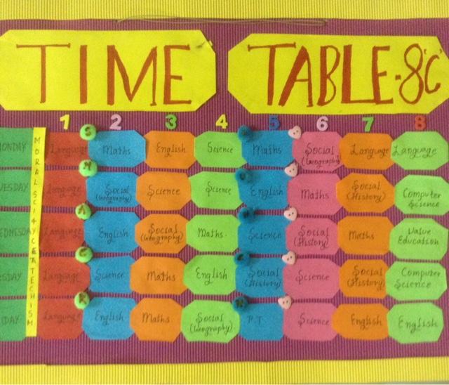Ooh!vya: Time table ideas