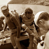 1974 г. Погружение на Царском пляже, Новый Свет.