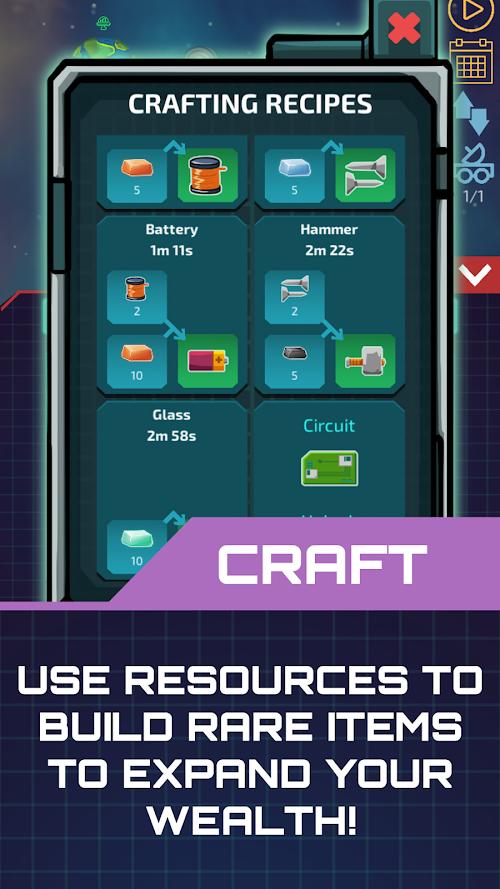 Screenshot 2 Idle Planet Miner 1.0.20 APK MOD