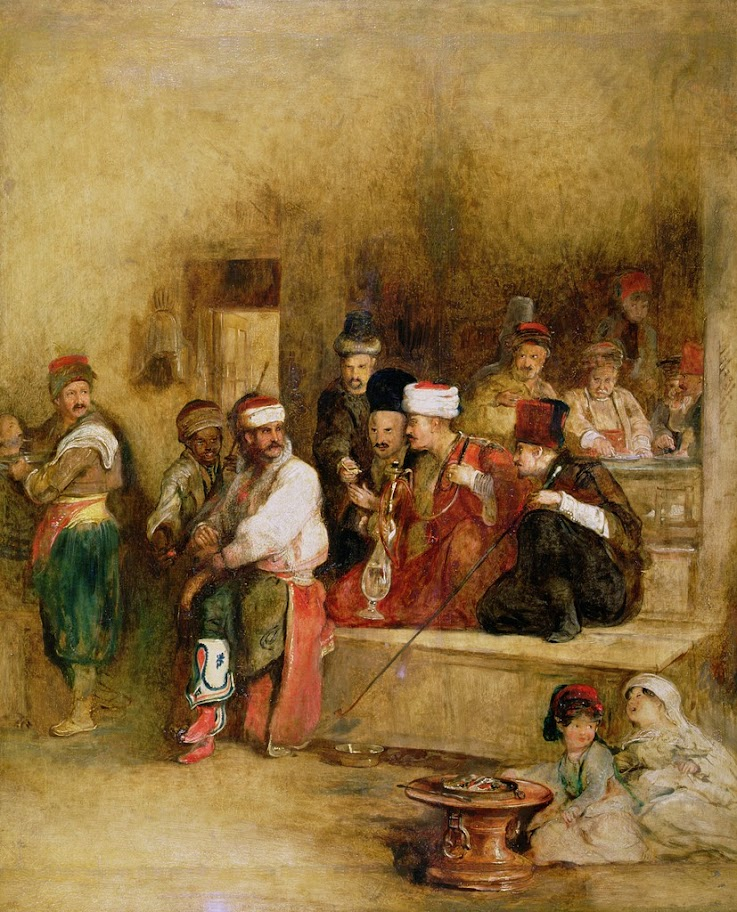 David Wilkie - A Tartar Messenger Narrating the News of the Victory of St. Jean D'Acre