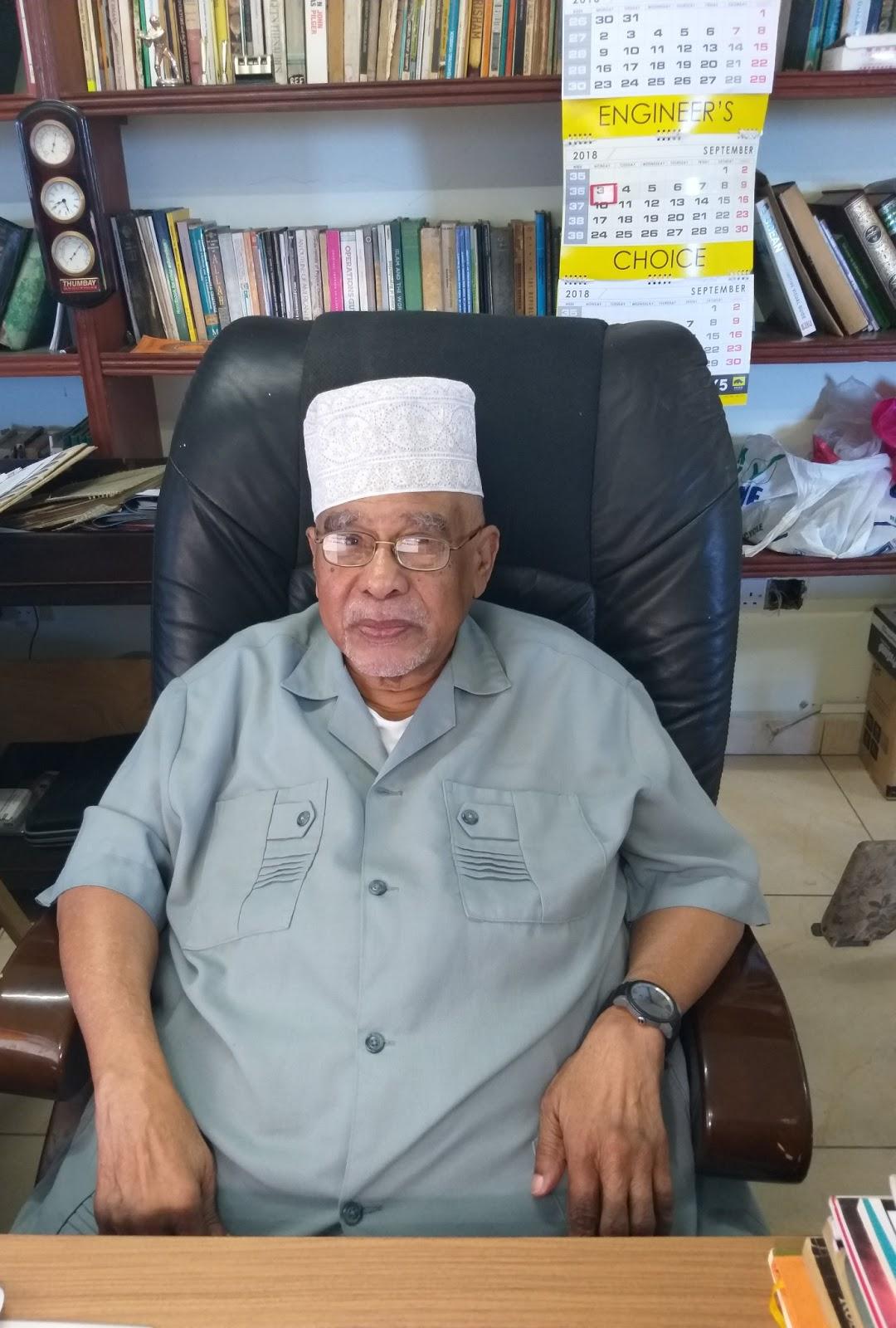 Prof. Mohamed Hyder at the University of Nairobi