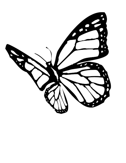Monarch Butterflies Coloring Page  Monarch Butterfly