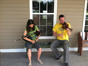 PEI Fiddle Camp - Ward and Sarah having some tunes.