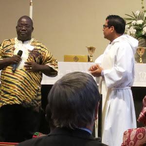 10 04 2015 Visit by Jerry Sumo, Principal of St. Matthew's UMC School in Logantown, Liberia