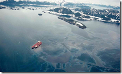 Exxon Valdez two days after oil spill