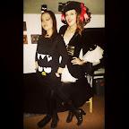 I'm a bird and @kristen_lara_la is a #pirate. #halloween #BadtzMaru #penguin #kawaii #sanrio  #partyhard