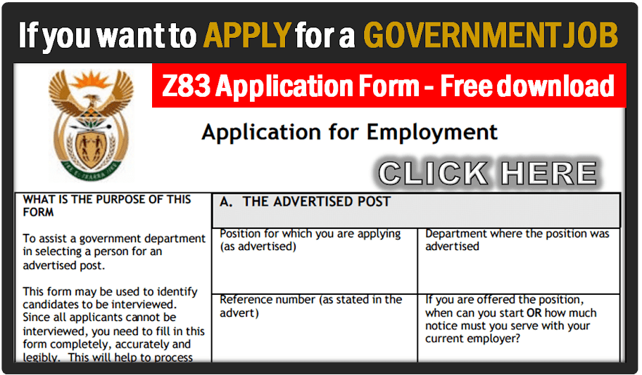 Image result for Download Z83 Application Form Word Format