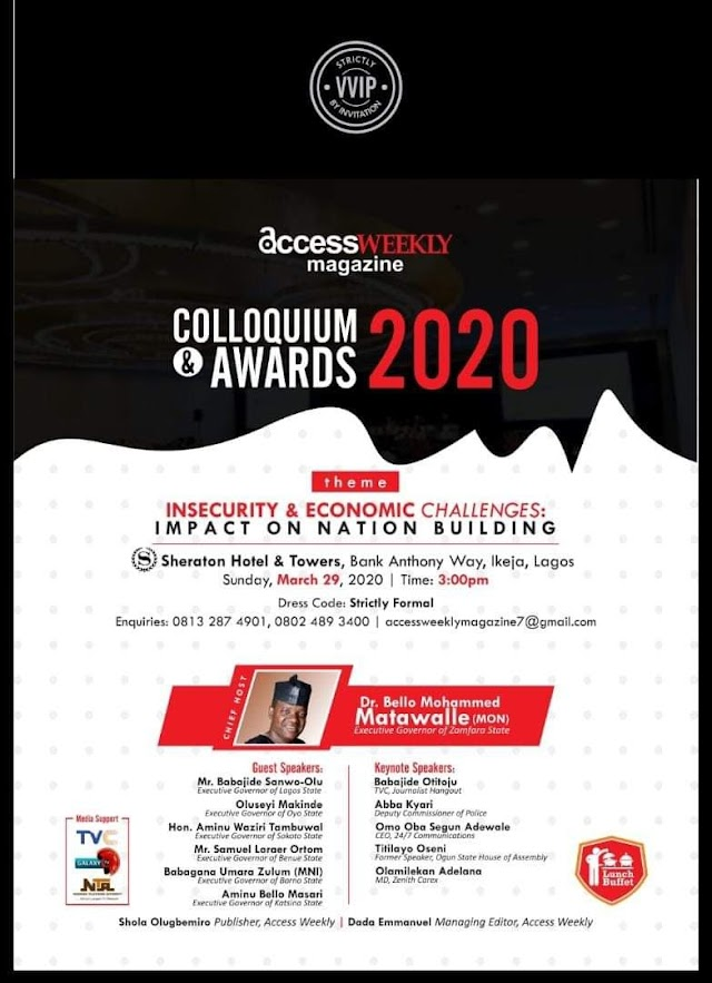 Access Weekly Magazine Colloquium and Award Holds March 29