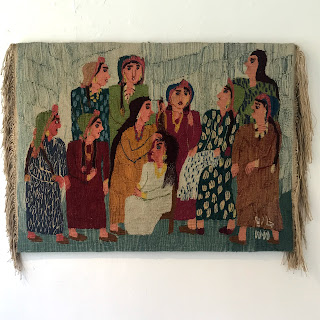 Hand-Woven Wool Tapestry