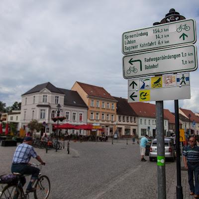 Gurken-Radweg in Lübbenau
