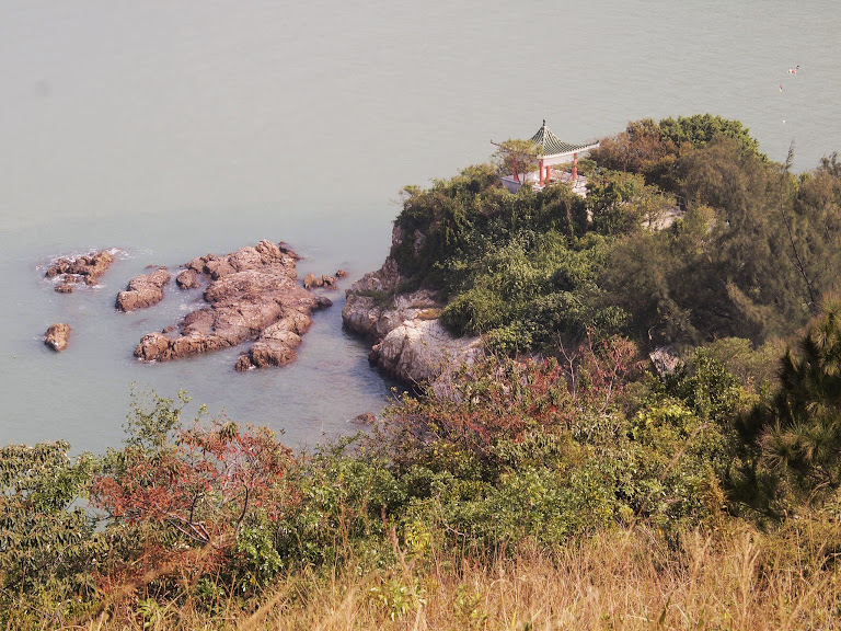 A small temple spotted from the hill top