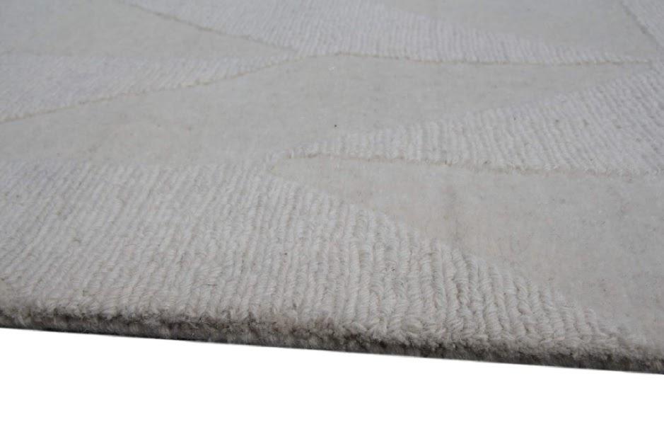 100% wełnany nowoczesny dywan z Indii ręcznie taftowany 3x4m 250x350cm 270x360m beżowy