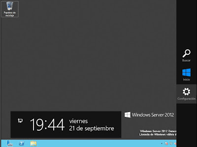 Cómo reiniciar o apagar un equipo con Windows Server 2012
