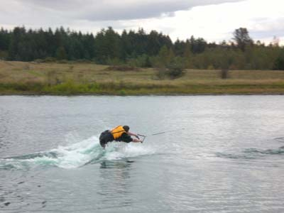 Bob tried to wakeboard....Harder than it looks isn't it?