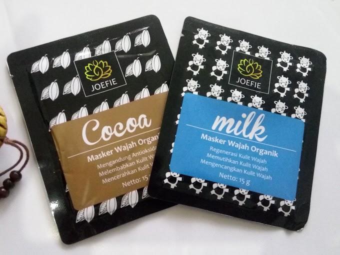 [Review] Masker Organik Joefie Varian Milk dan Cocoa