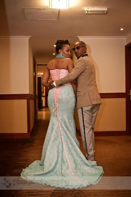 Mr. and Mrs Nsembo looking fabulous during their wedding reception day