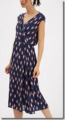 Jaeger silk abstract print dress