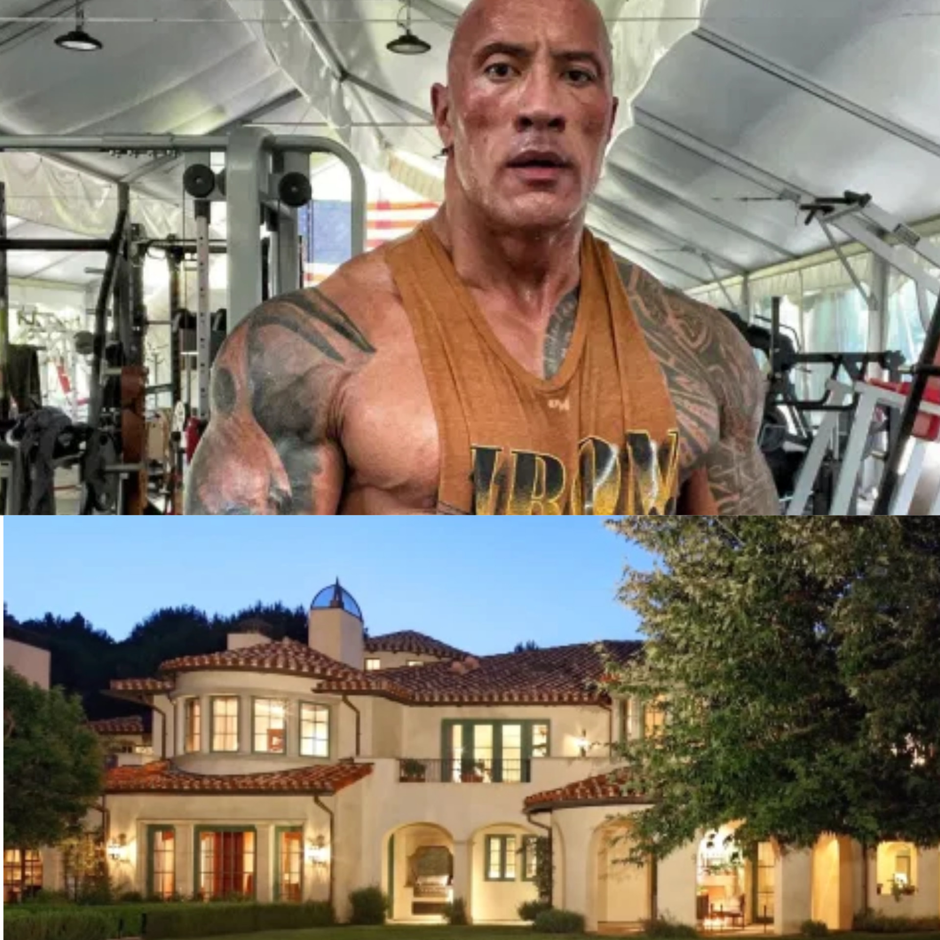 32 Interior Design from The Rock $27.8m mansion with full-size tennis court, a baseball pitch, guest house, movie theater & music studio