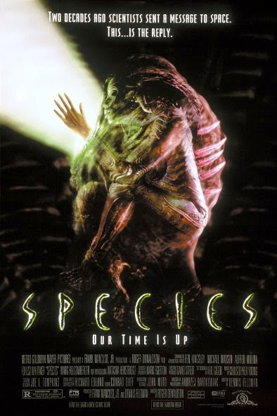 Poster Of Species (1995) Full Movie Hindi Dubbed Free Download Watch Online At Alldownloads4u.Com