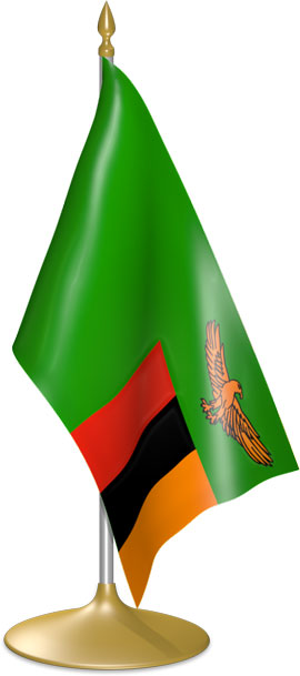Zambian table flags - desk flags