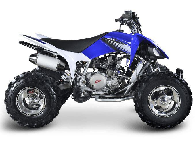 250cc Crossfire Mustang Evo 3 Yamaha Raptor Style Sports Recreational Quad Bike Watercooled Engine ATV with Alloys
