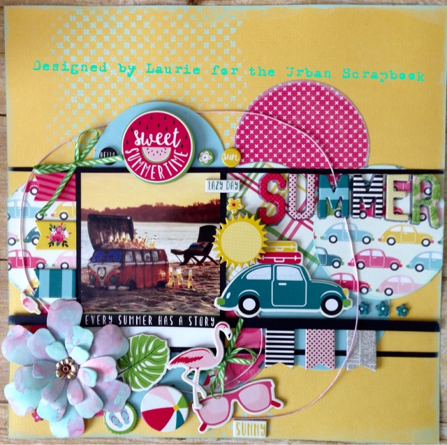 Urban Scrapbooks Monthly Kit July And Good Bye