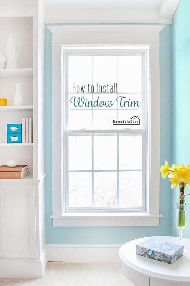 window trim install