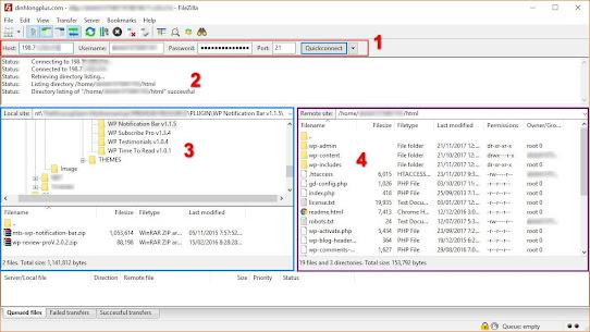 Phần mềm FileZilla Client