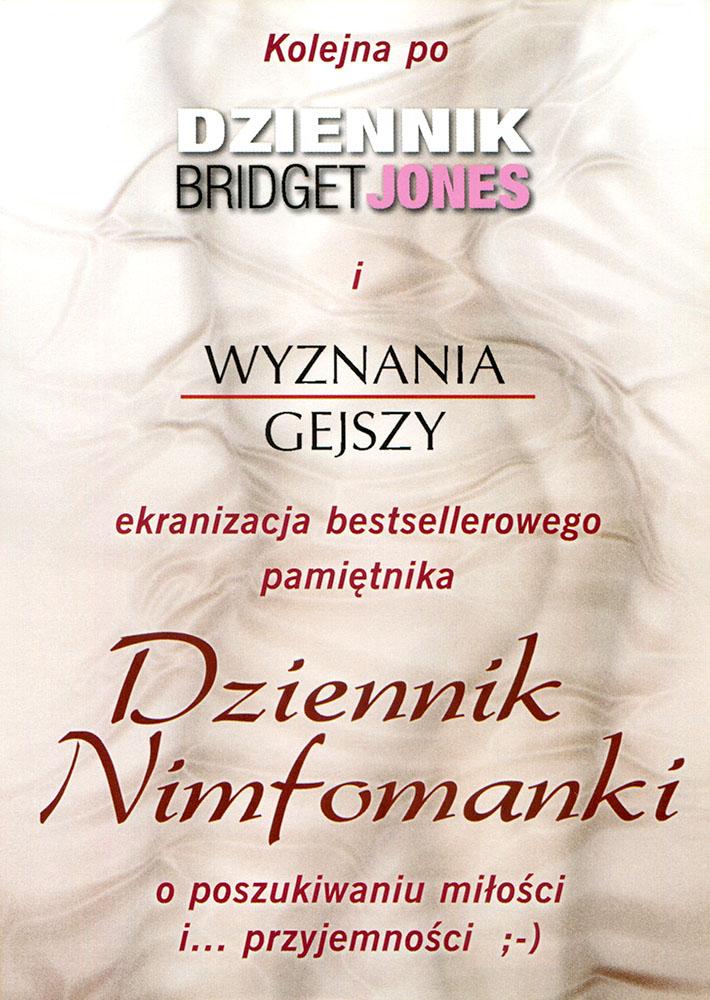 Ulotka filmu 'Dziennik Nimfomanki (tył)'