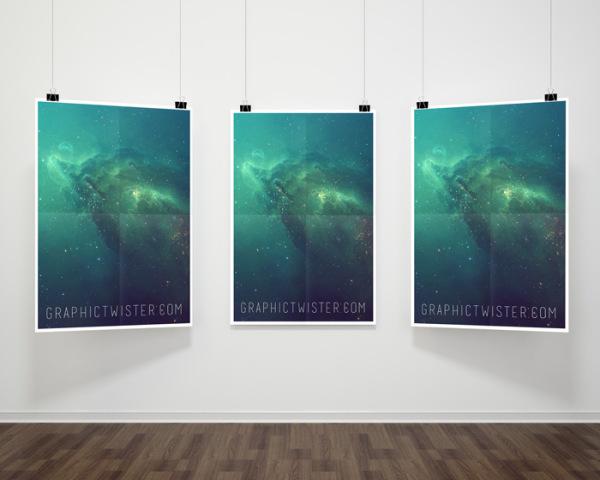 Minimalist Hanging Poster Mockups – Free PSD