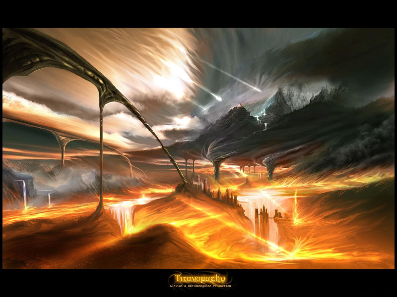 Fire Waves, Magical Landscapes 1