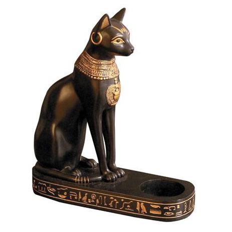 Bastet Candle Stand, Egyptian Magic