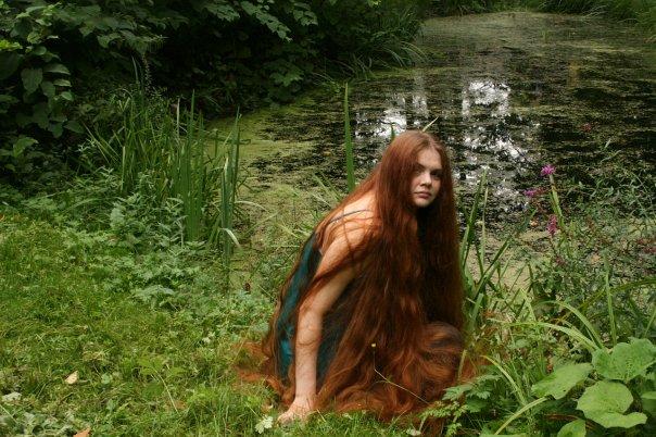Rapunzel in the park girl model long hair Gerovital
