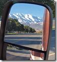 Mt. Timpanogos in rear view mirror, Provo