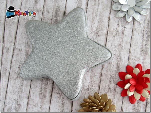 Decorazione natalizia in gomma crepla glitter