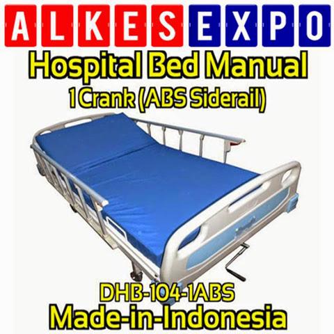 Gambar Ranjang Tempat Tidur Pasien Rumah Sakit ABS Siderail 1 Crank DUMEDPOWER