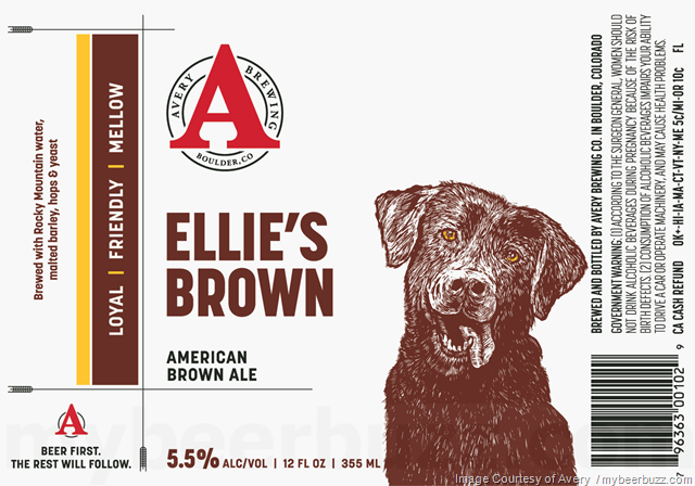Avery Updating Ellie's Brown 12oz Cans