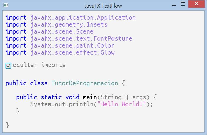 Colorear código con TextFlow en JavaFX
