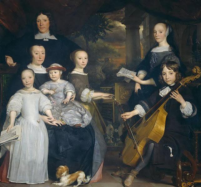 Abraham Lambertsz. van den Tempel - David Leeuw mit seiner Familie, Ausschnitt mit Sohn Pieter