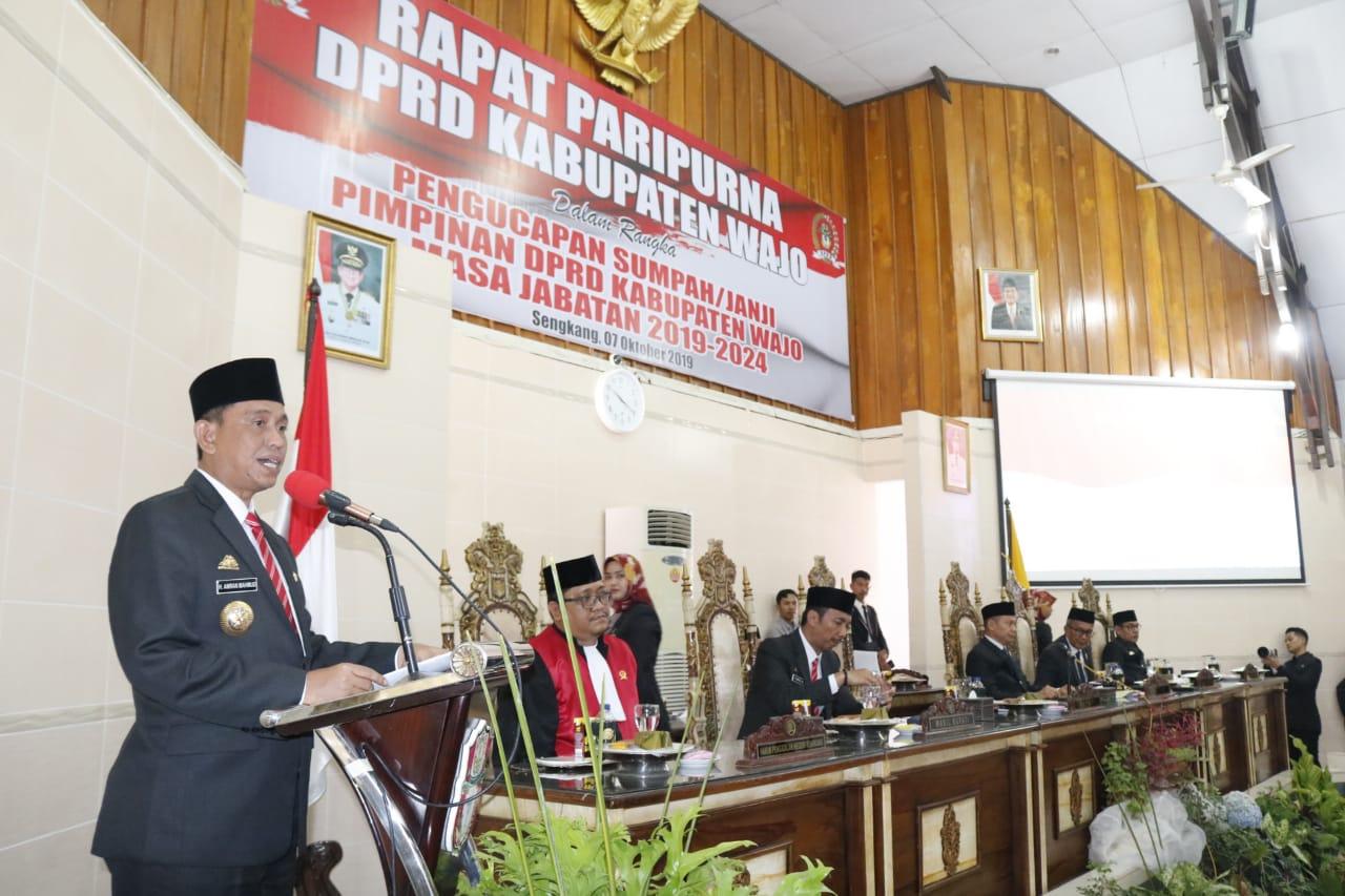 Bupati Wajo Apresiasi  Kesigapan DPRD Bersama TNI-Polri Meredam Aksi Demonstran, Selamat Kepada Ketua dan Wakil Ketua DPRD Kabupaten Wajo Definitif