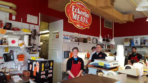 Friendly people at Eckerlin Meats. From Exploring Cincinnati's Findlay Market