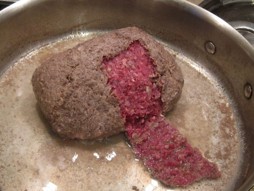 cook ground beef from frozen