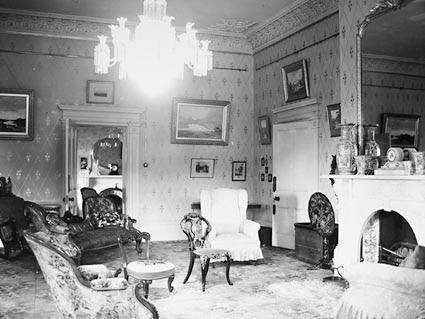 The drawing room of 'Mona Vale', near Ross, at the time of the Royal visit