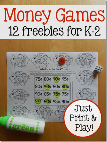 FREE Money Worksheets for Kindergarten, 1st grade, 2nd grade. Super cute, no prep, and FUN! (math)