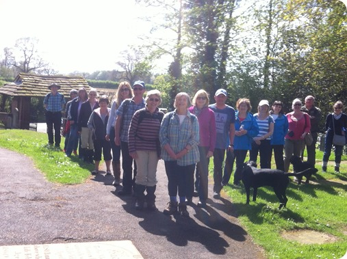 Walkers at St Marys Church Acton  for the inaugural Tea at the Tower guided circular walk