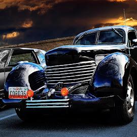 1936 Cord by JEFFREY LORBER - Transportation Automobiles ( cord, jeffrey lorber, rust 'n chrome, car photo, lorberphoto )