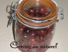 Bocaux de cerises au naturel, à la cocotte minute