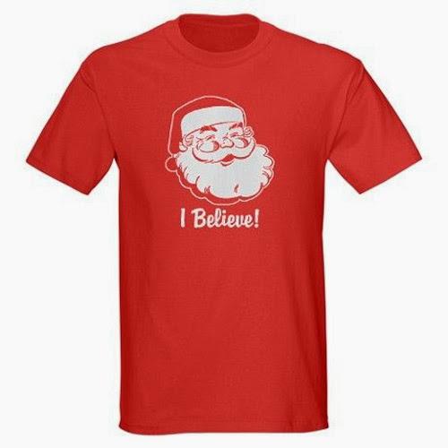 Inspiração: papai noel - camiseta I Believe