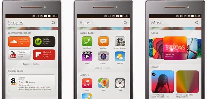 Ubuntu Phone, bq y los scopes
